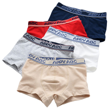 5 Pcs/lot 3-Kinds Style Soft Organic Cotton Kids Boys Underwear Children's Boxer For Boy Shorts Panties Teenage Underwear 2-16y