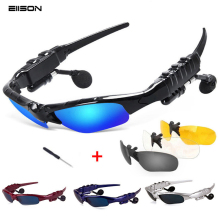 Bluetooth Sunglasses Sun Glasses Polarized Wireless Headphone With Microphone Outdoor Glasses with Mic Casque for sony xiomi(China)