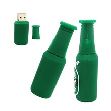 Green Beer USB Flash Drive High Speed 4GB 8GB 16GB 32GB 64G Pen Drive Memory USB Stick Flash Drive 128GB chiavetta usb cartoon(China)