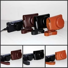 Black/Brown/Coffe Camera Case Bag Leather Case Cover for Digital Camera Casio EX10 Free Shipping