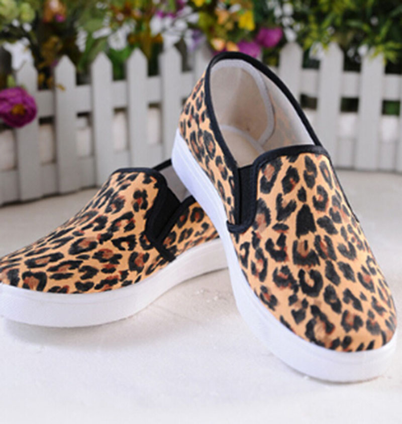 2017 Spring And Autumn New womens Casual Shoes Student Shoes Leopard Forehead Wide Stripes Shoes .WDDS-9<br><br>Aliexpress