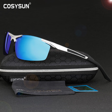 COSYSUN Brand Aluminum Magnesium Alloy Frame Polarized Sunglasses Men Driving Sunglass HD Rimless Men driver Glasses CS8530(China)