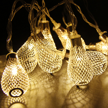 2M Elegant Drops 20lights LED String Light,Warm White,AA Battery,new year,fairy lights,home indoor decoration,christmas lights(China)