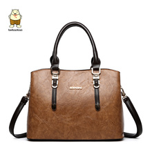 Beibaobao New 2017 Vintage Women Handbags High Quality Casual Tote Shoulder Bags Winter Style Work Bags Big Leather Hand Bag