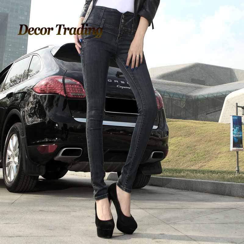 New Fashion 2016 Winter Thicker Warm Womens Pencil Pants Jeans Ladies High Waist Velvet Slim Denim Jeans Trousers F356Îäåæäà è àêñåññóàðû<br><br>