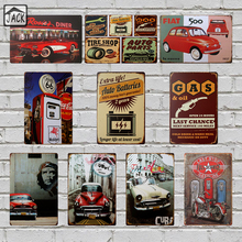 Car Gas Station vintage poster metal tin signs 20X30CM iron plate wall decor plaque club home bar shop cafe garage wall picture(China)