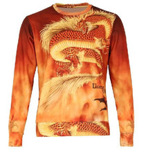 New 2017 Men's 3D Hoodies Animal dragon Pattern Printed Warm Sweatshirts Brand Design Fleece Coat O Neck Clothing Tops Plus Size