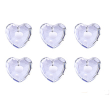 1.3 Inch Lover Gift Heart Clear Chandelier Pendant Parts K9 Crystal Prisms Suncatcher Accessories Home Wedding Decor Ornament