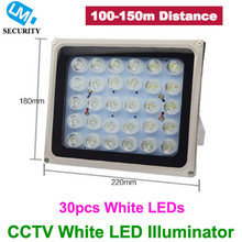 Long distance LM Security 30pcs White LED illuminator Light CCTV IR Infrared Night Vision For Surveillance Camera, Free Shipping