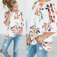Buy Fashion Women Ladies Clothing Tops Short Sleeve Shirt Casual Lace Blouse Loose Flower Tops Clothes Women for $4.52 in AliExpress store
