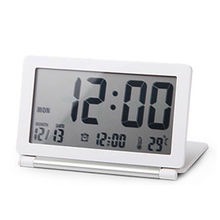 Ultrathin digital clock folding Snooze Alarm Clock Led Digital Desktop Clock Table Clock despertador Watch temperature display(China)