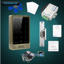 HOMSECUR Waterproof Touch Keypad IC Access Control System+Electric Strike Lock