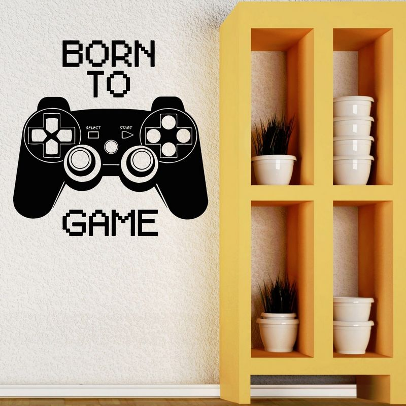Game Handle Sticker Gamer Decal Gaming Posters Gamer Vinyl Wall Decals Parede Decor Mural Video Game Sticker