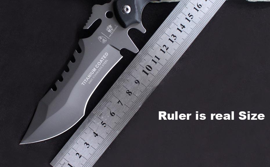 Купить Hx на открытом воздухе кемпинга нож выживания звероловства kinves тактический исправлена karambit сабля лезвия карманный edc инструменты 440c titanium cold steel дешево