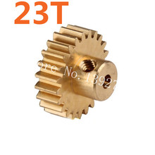 HSP Parts 11153 Motor Gear 23T Metal Brass Pinion For 1/10 Electric Model Car Buggy 94107 94170 DESTRIER EP Pro XSTR Hobby Baja