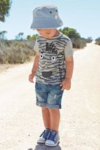 2017 Summer Style Kids Baby Boys Clothes Suit Fashion Zebra Gray Short-Sleeved T-shirt+Short Jeans Shorts Children Clothing Set