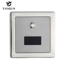 Yanjun Stainless Steel Automatic Toilet Flush Valve Sensor&Manual 2 Function Square Concealed Wall Mount DC6v YJ6350(China)