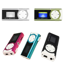 MAHA Mini USB Clip LCD MP3 Music Player With LED Light Support 16GB Micro SD TF Card(Blue/Rose red/Silver/Black/Green)(China)