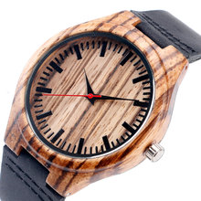 Buy Festival Memorial Day Gift Natural Stripe Bamboo Wristwatch Work Art Handmade Natural Wood Quartz Watches Men Women for $13.37 in AliExpress store