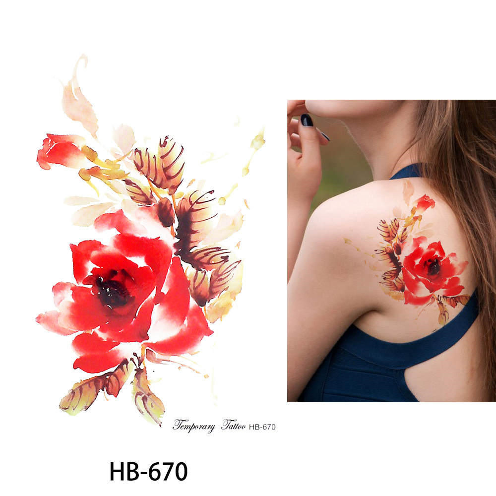 Flower Bird Decal 1pc Fake Women Men DIY Henna Body Art Tattoo Design HB556 Butterfly Tree Branch Vivid Temporary Tattoo Sticker