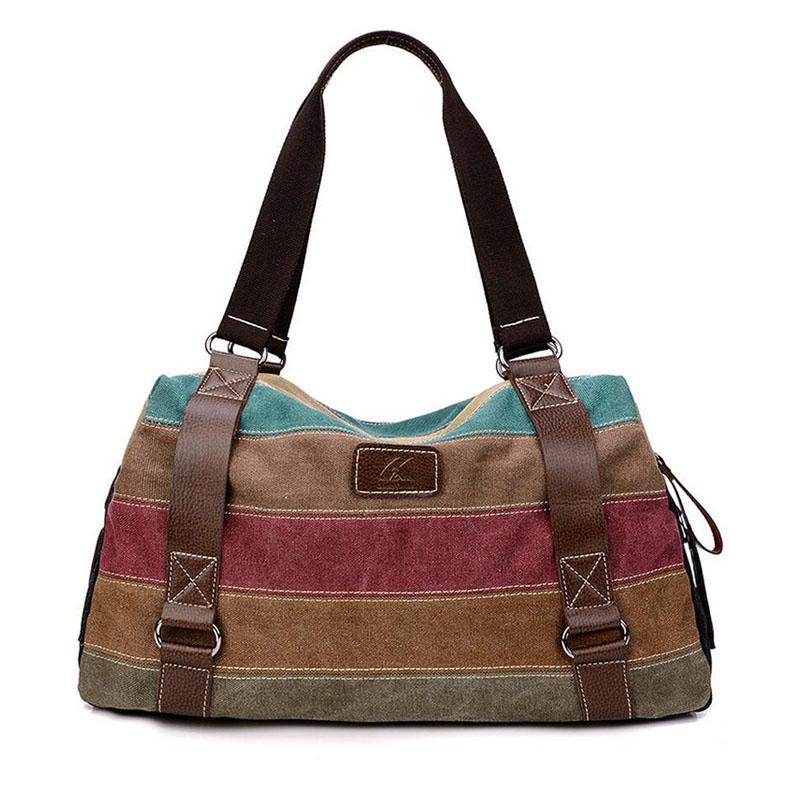 2017 Hot Women Shopping Bags Casual Patchwork k2 Canvas Handbag Stripe Shoulder Bags Totes Handbag women messenger bags w659<br><br>Aliexpress