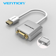Vention HDMI to VGA Adapter Converter Cable with micro USB power 3.5mm audio HDMI VGA Connector for XBOX PS3 PS4 HDTV PC Laptop(China)