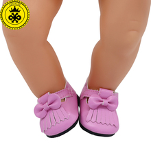 Baby Born Doll Shoes 15 Colors Cute Leather Shoes Casual Shoes Fit 43cm Zapf Baby Born Doll Accessories Girl Gift xie562(China)