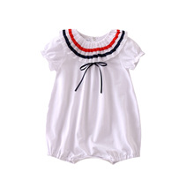 Newborn Baby's Romper White Sailor Collar baby Jumper Cute baby one piece Clothing