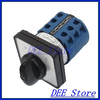 Electric 5 Position 12 Terminals Rotary Cam Changeover Switch 660V 20A<br><br>Aliexpress