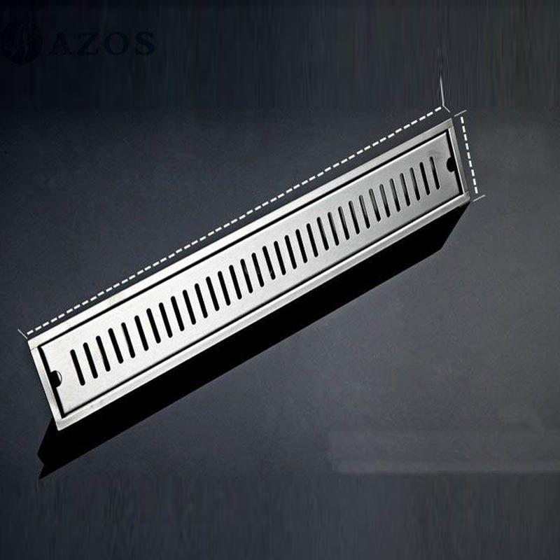 30CM 304 Stainless Steel Linear Nickel Brushed Toilet Floor Drain Strainer Grates Waste Bathroom Shower Overflow Part PJDL015-1<br>