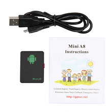 Mini GPS Tracker Mini A8 GSM/GPRS/LBS Tracker Locator Adapter Real Time Car Kids Family Pet Tracking Tool