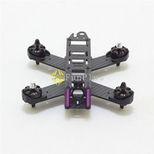 QAV210 Carbon Fiber RC FPV Mini Quadcopter 210mm 4-Axis Frame Quad DIY Mini Drone with Landing Gear Motor Protecter