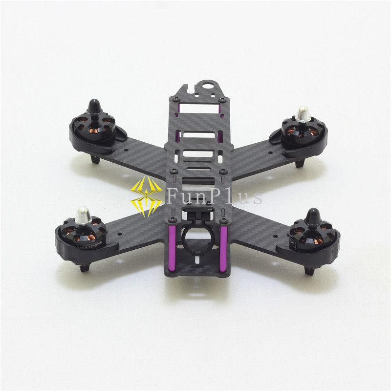 QAV210 Carbon Fiber RC FPV Mini Quadcopter 210mm 4-Axis Frame Quad DIY Mini Drone with Landing Gear Motor Protecter<br>