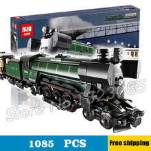 1085pcs New Lepin 21005 Creator Emerald Night Train Building Kit 3D Model Blocks Toys Bricks Compatible with Lego