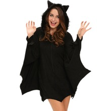 FGirl Halloween Costumes for Women Sexy Adult New Year Costume All in Black Bat Adult Costume FG21624(China)