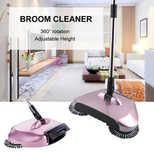 Hand Push Sweepers Hurricane Spin Broom Without Electricity Dustpans Hard Floor Magic 360 Sweeping Machine For Lazy Cleaner(China)