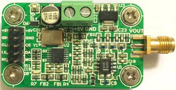 ADF4001 local oscillator module 80M-200M output frequency synthesizer PLL control program<br>