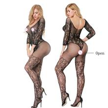 Buy Plus Size Open Crotch Women Sexy Lingerie Hot Porn Fishnet Babydoll Underwear Dress Baby Doll Sexy Erotic Lingerie Sex Costumes