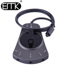 EMK 3-Way Digital Toslink Switch SPDIF Optical Audio Switch Toslink Cable Switcher Selector Hub Box for DVD CD player