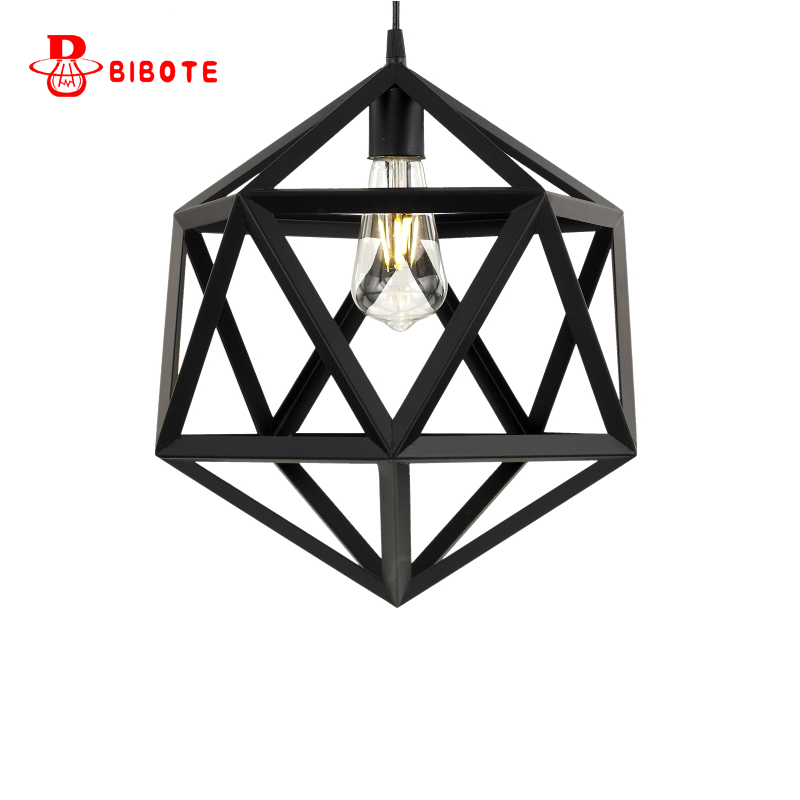 Modern pendant lights with led edison bulb for restaurant study bed room Fixed lamps Retro industrial style free shipping BIBOTE<br>