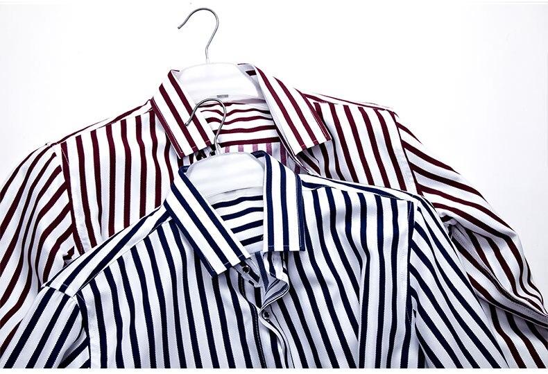 2018 New Men's Striped Male Shirts Cotton Men Shirt Mens Clothing Chemise Social casual Slim fit Dress Homme Shirts men K036 1