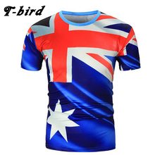 New Fashion 2017 Brand Male T Shirt 3D Australia Flag Trends T-Shirt Men Funny Summer Tee Short Sleeves Mens Cotton Fast Drying