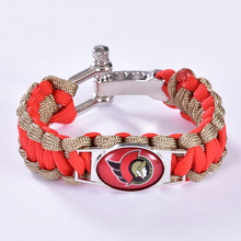 Ottawa Senators Custom Paracord Bracelet NHL Team Hockey Bracelet Survival Bracelet, Drop Shipping! 6Pcs/lot!(China)