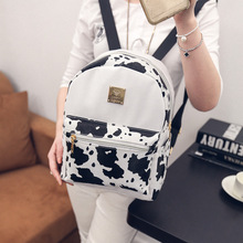 Hotsale Promotion 2016 Dairy Cow Floral Print Zebra-stripe Women Backpacks Fashion School Bag Backpack Women's Travel Bags
