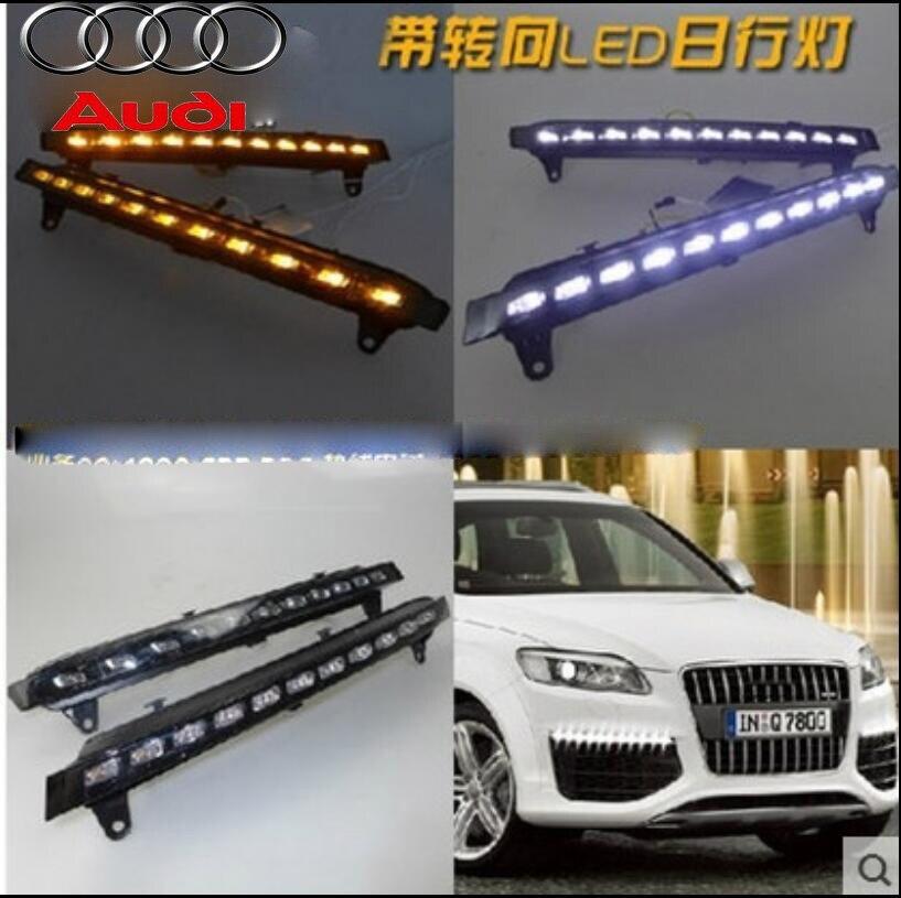 Car-styling,Q7 day light,2007~2015,Halogen/LED,Free ship!2pcs,car-detector,Q7 fog light,car-covers,steering-wheel;Q 7,Q7<br>