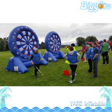 Chinese Factory Direct Giant PVC Inflatable Football Darts Game Air Blower Included