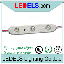Injection 3 leds led lights with SMD 2835 LED back lighting for signage box with UL certification:E468389(China)
