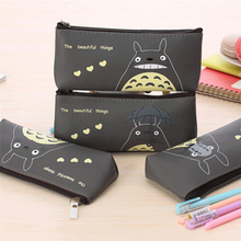 Papeleria 2017 New Cute Cartoon Totoro Boys Girls Pencil Cases Super Kawaii School Suppliers Pencilcase Stationery Pen Bags Wz