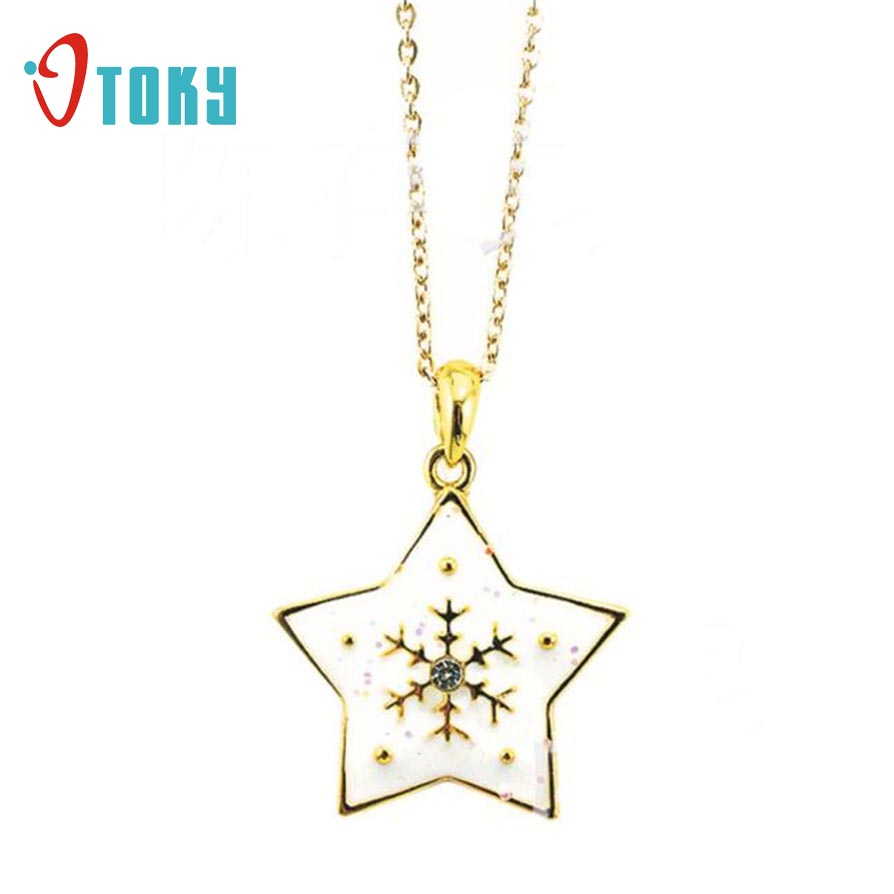 Pendant & Necklaces Otoky Fashion Ladies Pentagram Necklace Pendant Earrings  Drip Christmas Gift Apr27(china