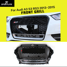 A3 RS3 Styling Grille ABS Auto Car Front Mesh Grills With Camera Hole For Audi A3 S3 RS3 2013-2015